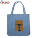 Factory Wholesale Cotton Denim Jeans Fabric Beach Handbag Ladies Daily Shopping Bag