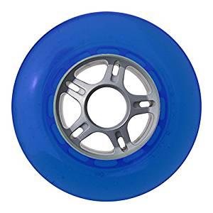 TGM Skateboards Plastic Hub Scooter Wheel Silver/Blue 5 Spoke Hub 100mm