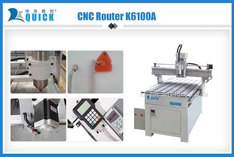 3D cnc cutting machine 6100 with 4 axis