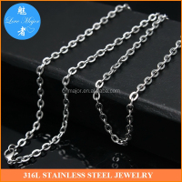 wholesale factory outlet 1.4mm stainless steel flat wire cable rolo chain