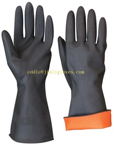Rubber Industrial latex heavy duty dirty work hand 3m electrical machinist working gloves