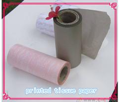 Embalagem do presente do papel de tecido, papel de embrulho de flores, 17g de papel tissue