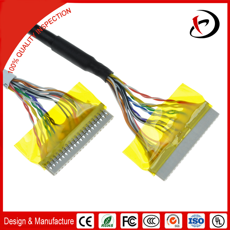 16 Pin Connector Lvds Cable Car Stereo Wiring Harness Assembly - Buy ...