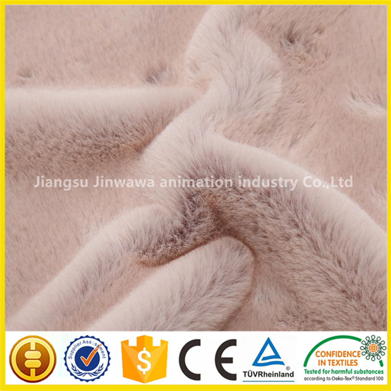 eco-friendly soft faux/fake/artificial rabbit fur fabric for blankets,garment