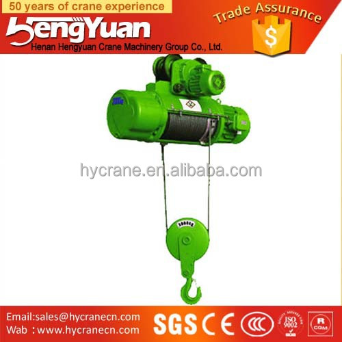Hot selling CD single Speed Yale Electric Wire Rope Pulling Hoist