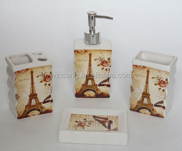 Ceramic Rectangular Eiffel Tower Decal