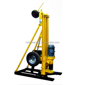 HQZ150 Rock Drilling Machine / Air DTH water well bore hole drilling rig