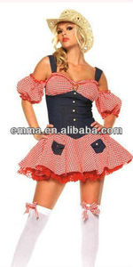Hot Sexy New Women cowgirl Halloween Outfit Costumes Dress C632