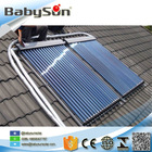 Vacuum tube solar collector, heat pipe split pressure solar water heater system