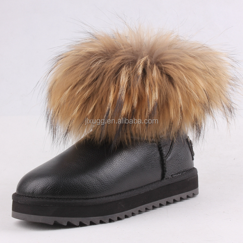 JLX2016 new style ladies winter boots, cheep sheepskin boots