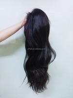 glueless full lace wig 8A grade wavy hair brazilian virgin human hair silk top baby hair