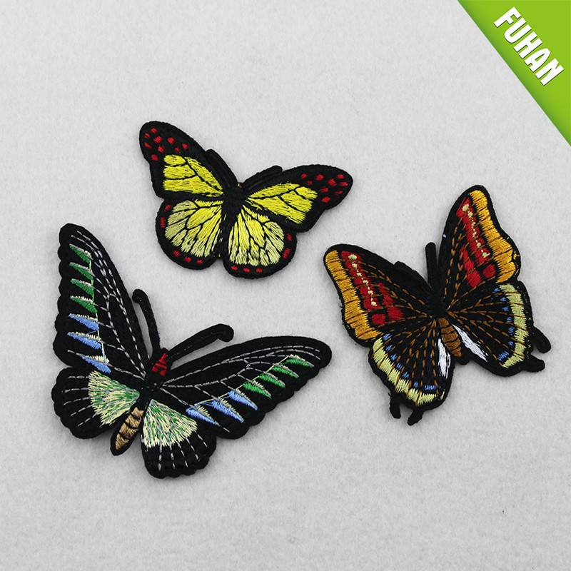 Custom butterfly embroidery patchs iron on