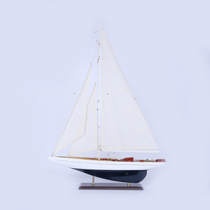 Mettle New Arrival Creative Length 60 CM High Quality Model Sailboat For Home Decor
