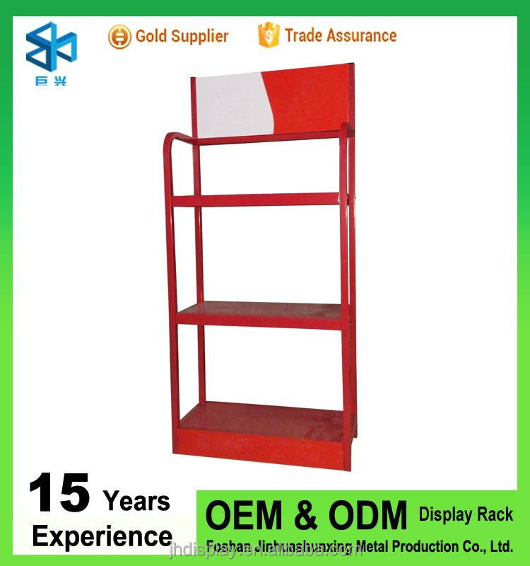 Metal commercial store shelving of electric bike battery racks storage stands