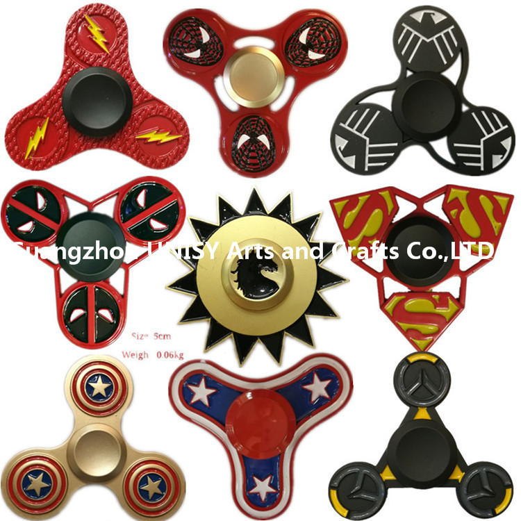 China wholesale Captain America's shield fidget spinner Superman superhero fidget hand spinner / Iron mans Fidget finger spinner