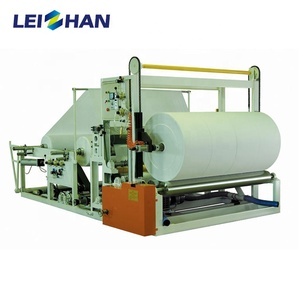 Fully Auto Toilet Tissue Rewinder, Jumbo Roll Tissue Rewinder Machine