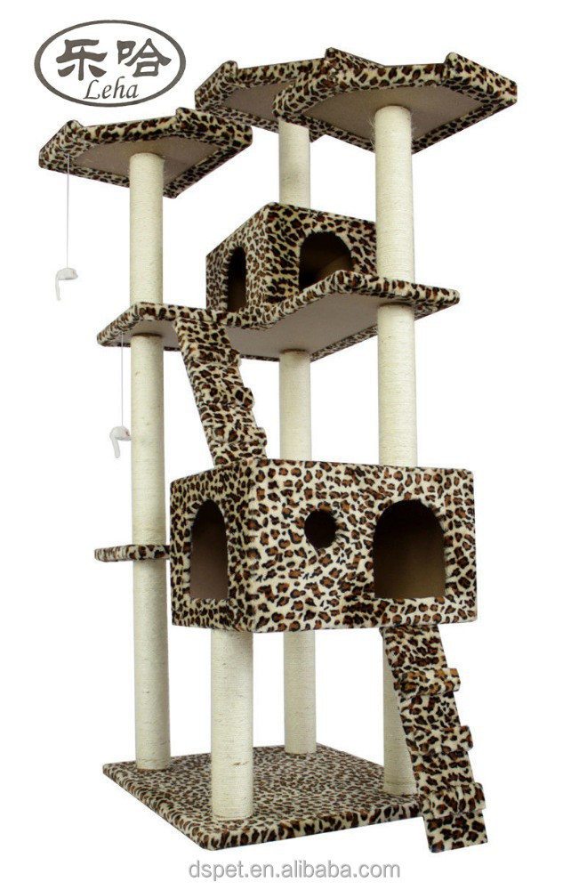 Large Cat Tree Condo Furniture Scratch Post cat climbing perch
