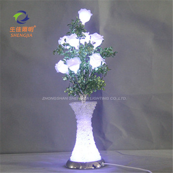2016 Decoration Indoor Waterproof Light Up Flowers Vase Flower Twig Lights Bedroom
