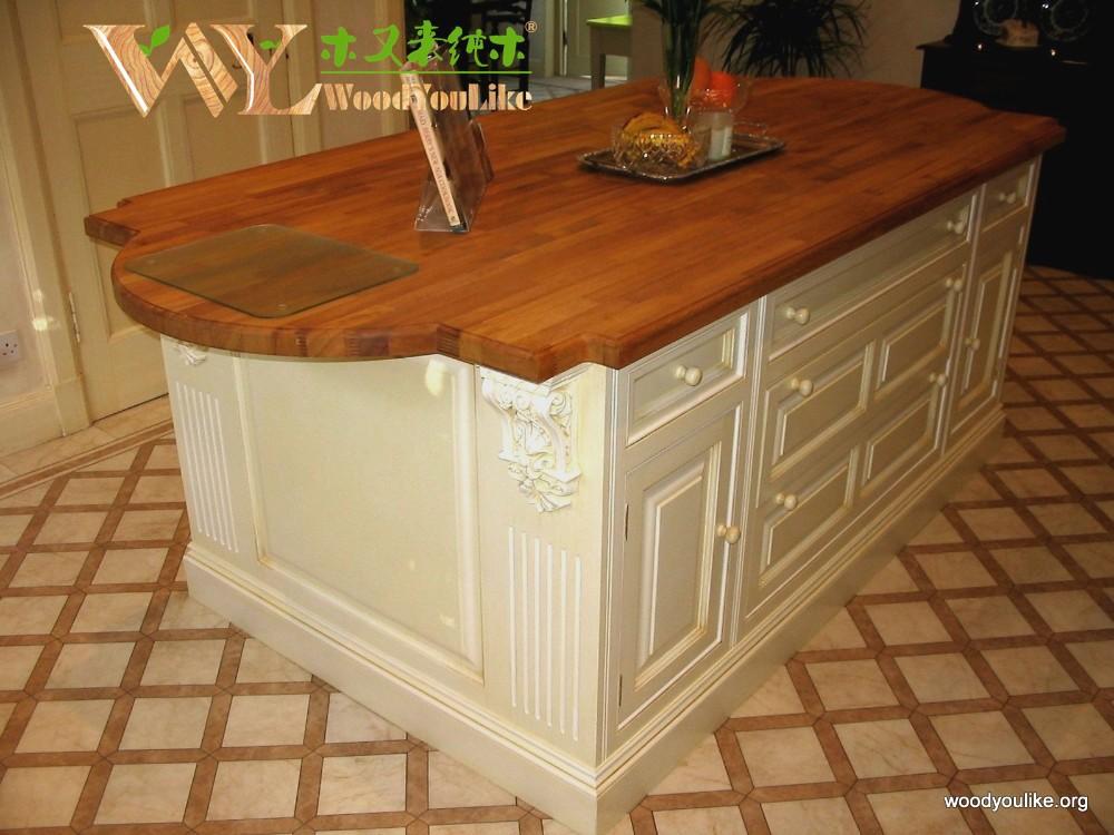 encimera de la cocina barato iroko madera encimeras de madera maciza