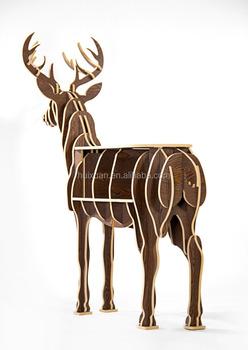 O Alce Mobiliário Home Decor Artesanato Ornamentos Criativo Em Madeira Enfeites De Europeia