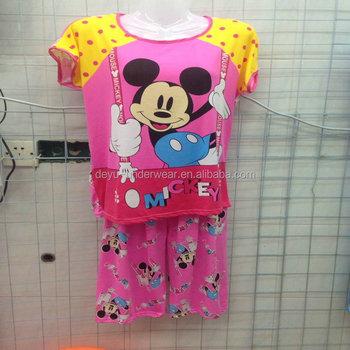 305621059e49 1.83USD Stock Girls Women Wholesale High Quality Cotton Assorted Designs Ladies  Sleepwear Pyjamas Shorts Sets