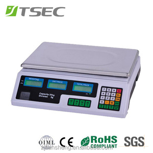 Digital Price Calculation Meat Weighing Scale 30KG 5G