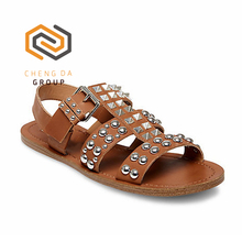 Popular summer Indian Style Ladies rivet Sandals Comfort Lady Flat Shoes