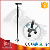 Chair folding walking stick with led light,adjustable walking stick for old people,foldable walking stick with flashlight