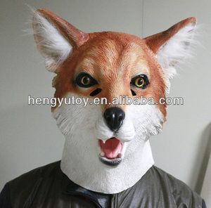 HUI ZHOU Education Toys Realistic outdoor ornament Christmas fox mask