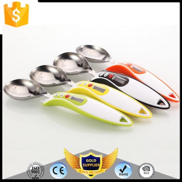 KH-0086 Cheap Promotional Stainless Steel 300g Hand Spoon Scale for Food