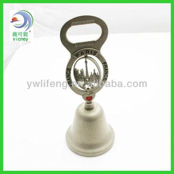 Brass Dinner Bell with Opener