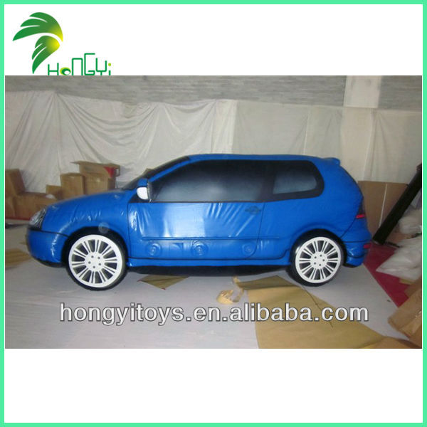 High Quality Material Blue Inflatable Model Car