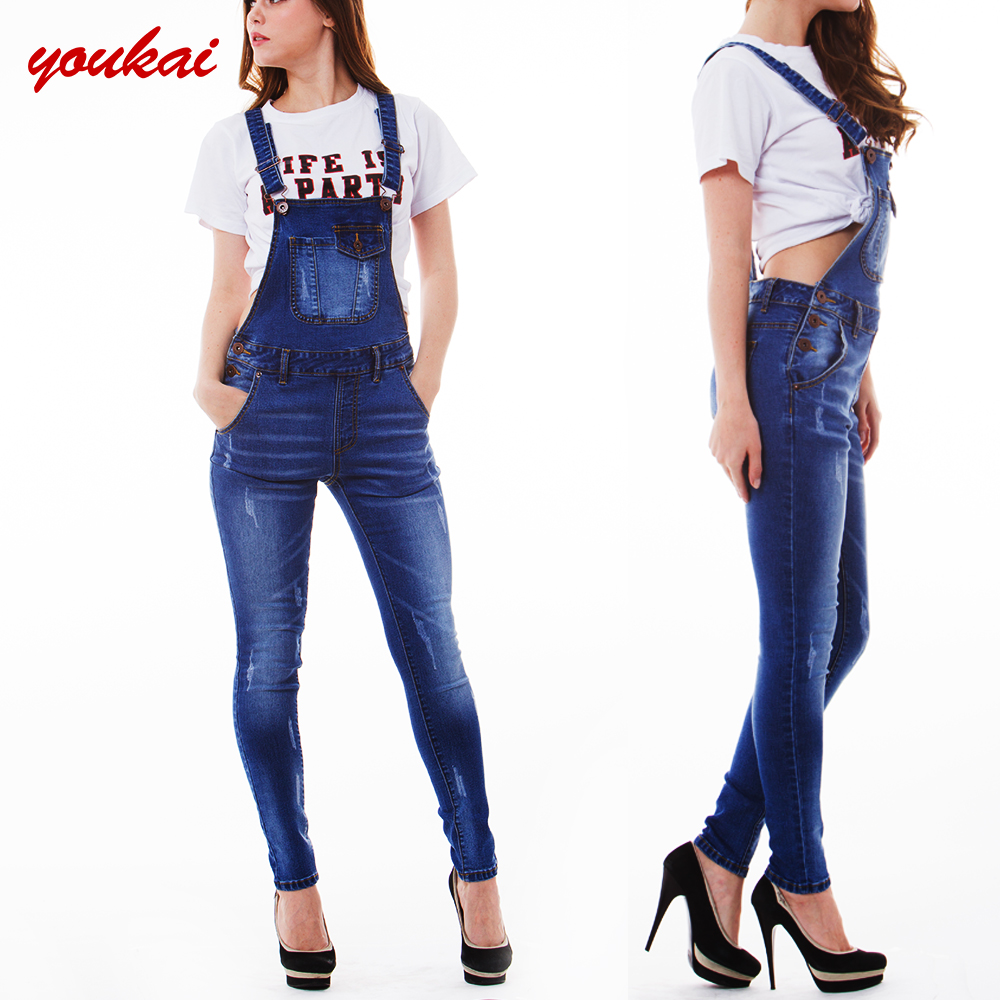 83ae4b4a67f5 manufacturer china ladies clothes women denim vintage ripped skinny  suspender trousers jeans overalls for women
