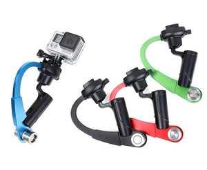 Mini straight hand-held camera stabilizer for smartphone for action camera
