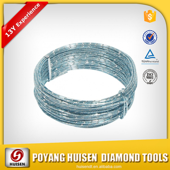 Diamond Wire Saw For Cutting Steel / Diamond Saws For Cutting Quartz ...