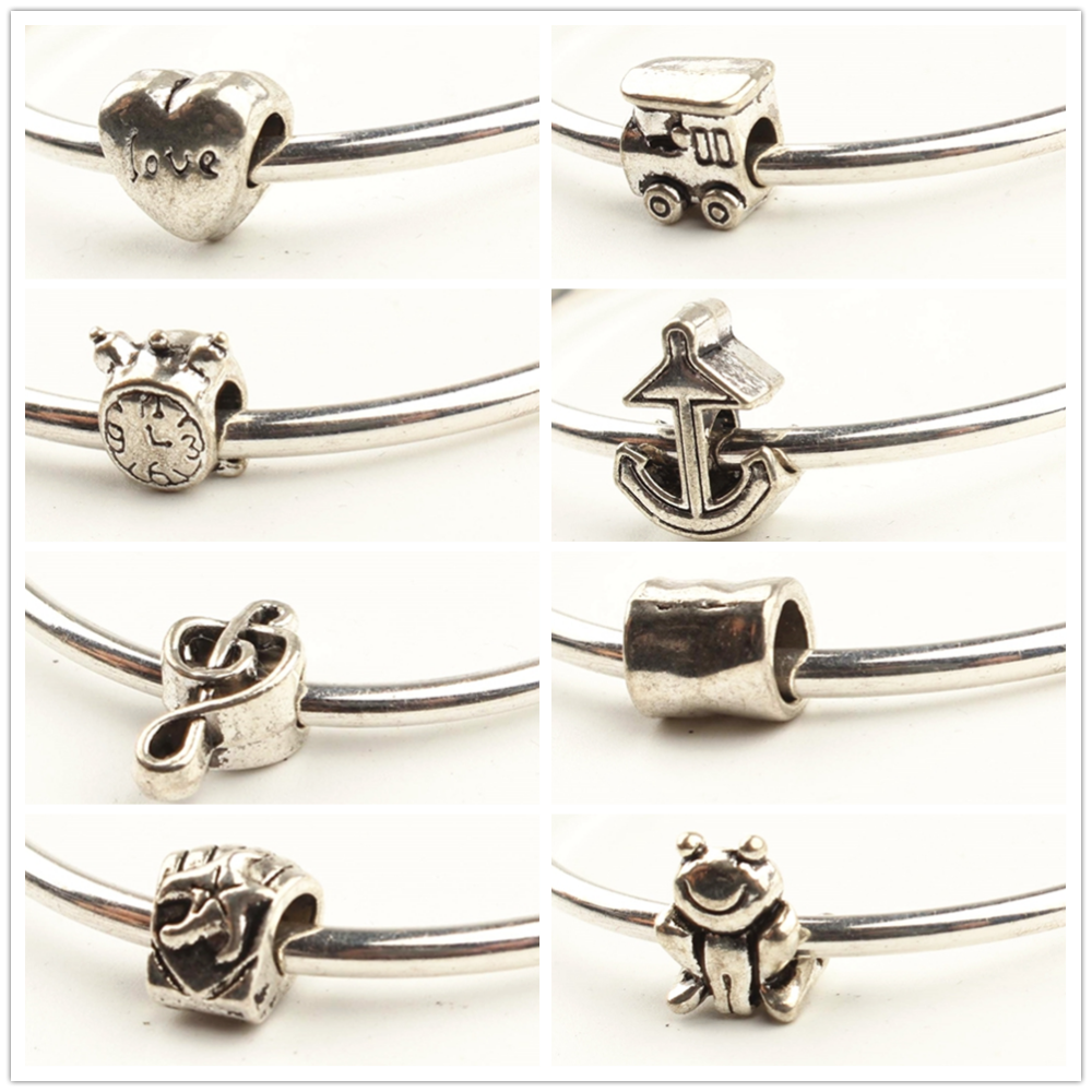 Frog Heart Shaped Metal Beads For Jewelry Making