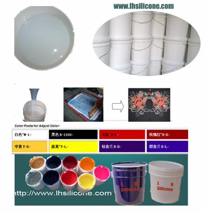 anti-slip silicone ink for wristband gloves/t-shirt printing