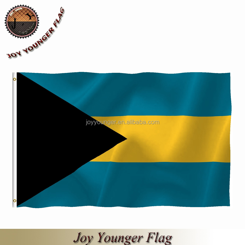 2*3 ft silk print Bahamas national flag