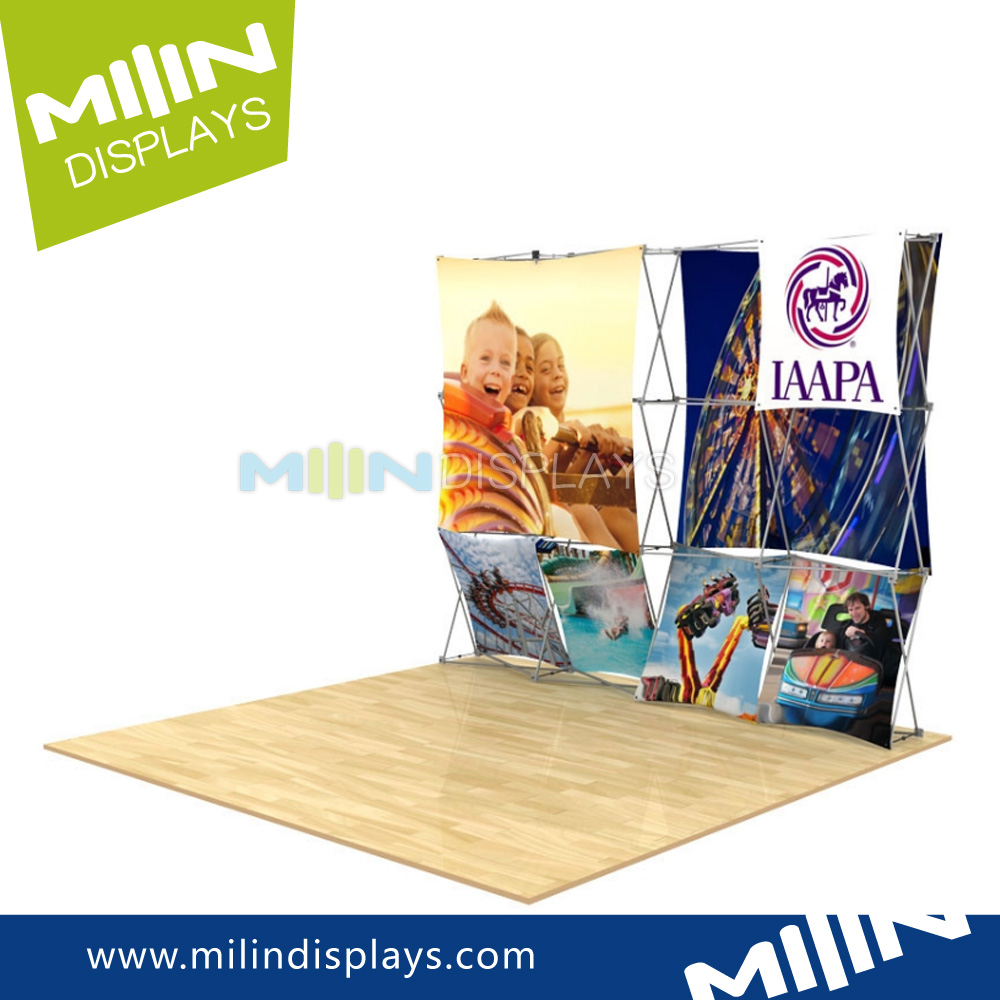 Tension Fabric roll display advertising banner stand