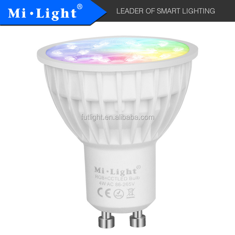 alibaba best sellers Mi.light products Smart led standing spotlight GU10 recessed led spotlight blue red green changing