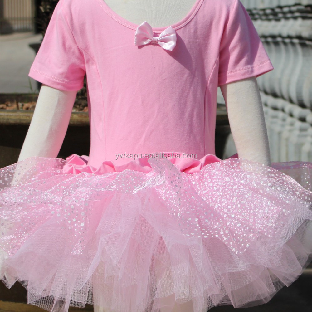 New style pink cotton baby summer dresses, children frocks designs ballet tutu