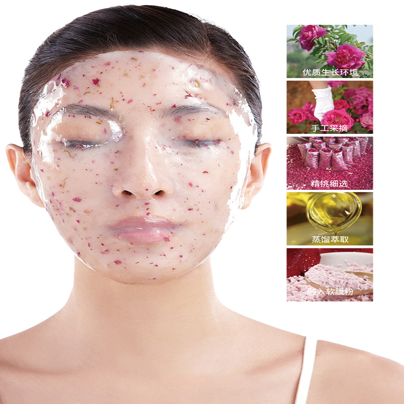 OEM factory  face mask beauty salon whitening hydrating modeling peel of crystal rose soft film facial mask