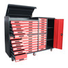 35 drawers garage tool cabinet with aluminum handle