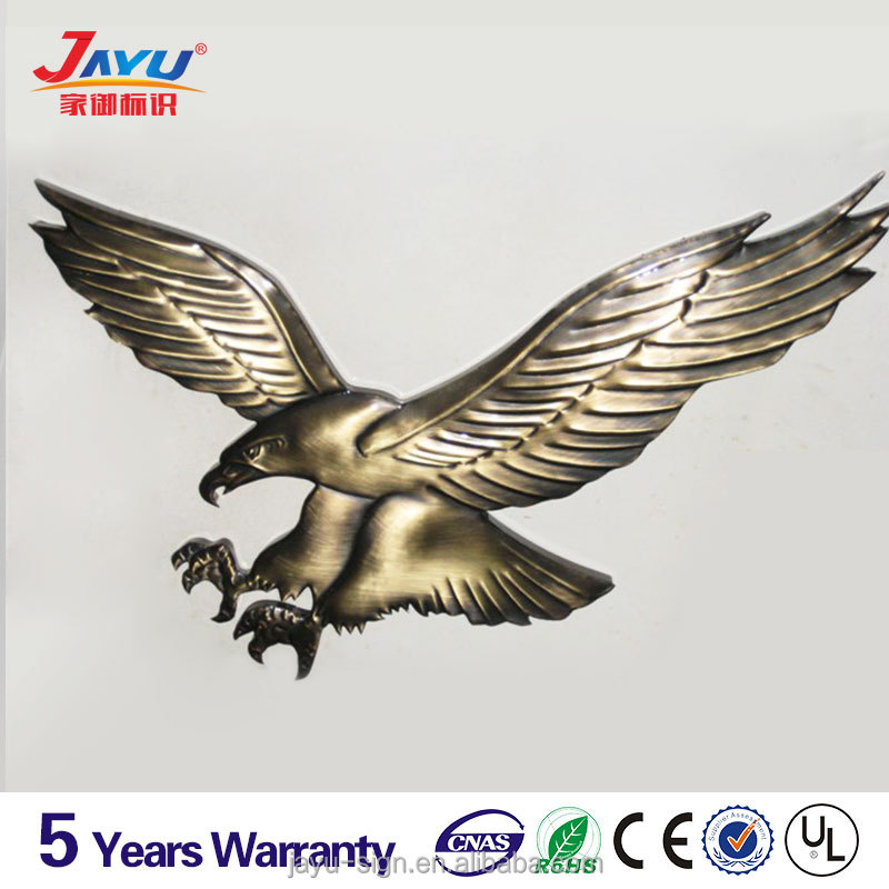 Custom cheap 3D eagle shaped antique pin badge