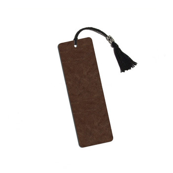 italy PU leather embossed bookmark for school leather embossed bookmark