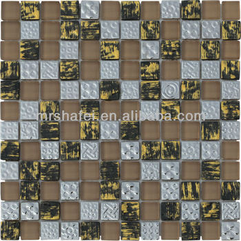 roman style art mosaic glass tile interior wall decoration for living room bedroom