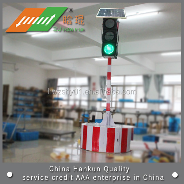 Mobile Led Solar Traffic Signal Light