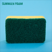 SUNWAY Most Popular Products OEM Colorful Kitchen Car Cleaning Sponge For Dish Wash