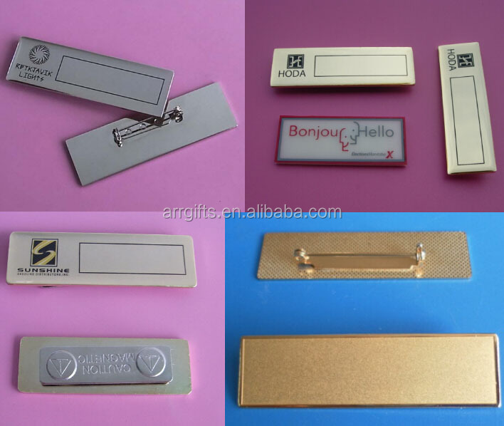 70x29mm silk-screen printing logo free mould magnetic name badge, custom name tag clasp for hotel / restaurant