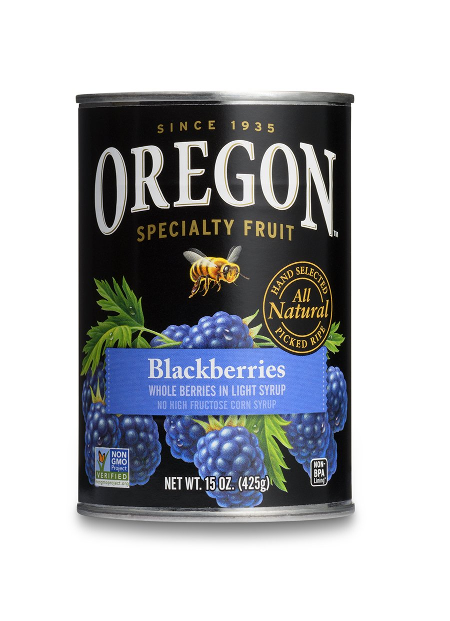 Get Quotations Oregon Fruit Blackberries In Syrup 15 Ounce Cans Pack Of 8